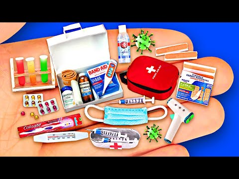 25 DIY MINIATURE ITEMS FOR DOCTOR 〜 A Syringe, a Thermometer, a Microscope, Bandages and more