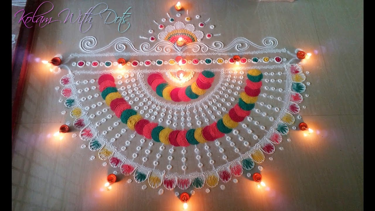 New Rangoli Designs With Multiple Colours - Beautiful ...