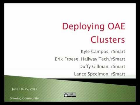 Deploying OAE Clusters