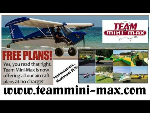 FREE aircraft plans, TEAM Mini-Max back in production.