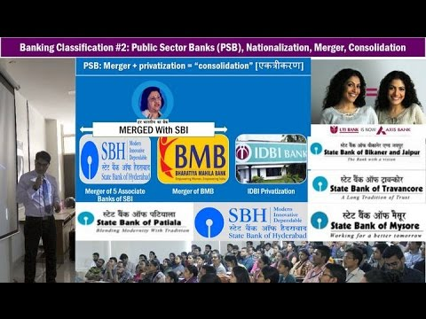 Banking Classification #2: Nationalized PSBs, Merger of SBI Associate Banks & Mahila Bank (BMB)