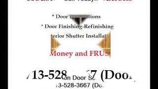 Exterior Wooden Shutters Installed Houston - Houston Door Solutions - 713-528-3667 (door)