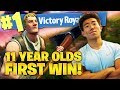 HELPING 11 YEAR OLD GET HIS FIRST SQUAD WIN! FUNNY MOMENTS! Fortnite Battle Royale!