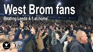 West Brom fans singing in their 4-1 win at home to Leeds