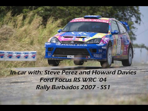 Incar with: Steve Perez and Howard Davies Rally Barbados 2007  SS1