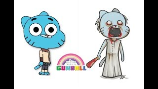 Gumball Characters As Granny And Slendrina Horror Games Characters