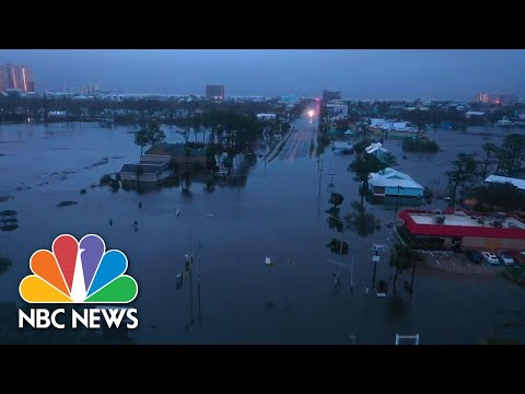 Drone Video Shows Hurricane Sally's Destruction | NBC News NOW