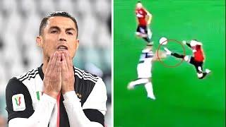 РОНАЛДУ не забил пенальти и тут же РЕБИЧ получил безумную красную карточку Ювентус Милан