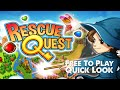 """RESCUE QUEST """"Free To Play"""" w/YourGibs - Quick Look - Initial Impressions - Early Game #MATCH3"""