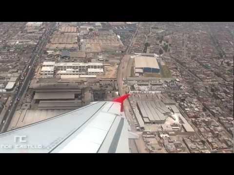TACA Airbus A320 Despegue de Lima, Perú (SPIM) - Aterrizaje San Jose Costa Rica (MROC)