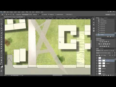Urbanism Plan   Photoshop Post Production