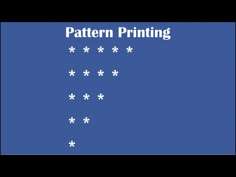 C Practical and Assignment Programs-Pattern Printing 2
