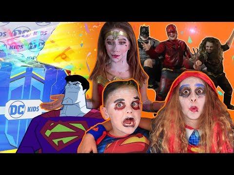 DC KIDS SECRET BOX CHALLENGE! | Super Heroes Get Bizarro for Halloween! | DC Kids