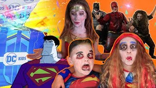 DC KIDS SECRET BOX CHALLENGE! | Super Heroes Get Bizarro for Halloween! | DC Kids