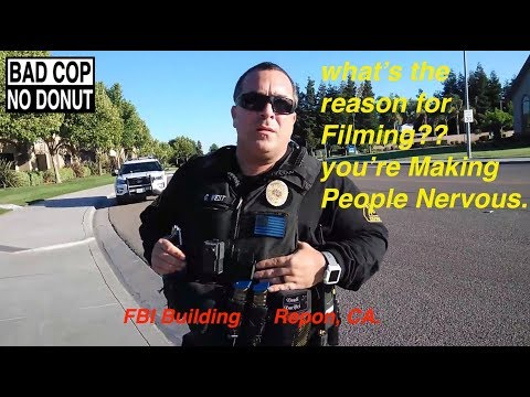 FBI Building & PD. Ripon, CA.     1st Amendment Audit. (Give me your name, I'll give you my Badge#)