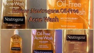 Review:Neutrogena oil free acne wash