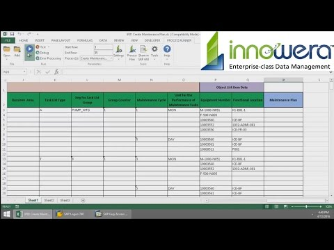 IP01 - Create Maintenance Plan From Excel