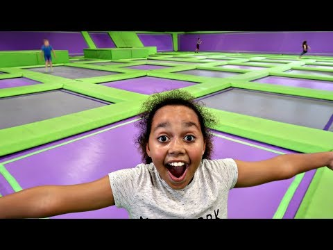 Thumbnail: CRAZY TRAMPOLINE PARK CHALLENGE! Toys AndMe Family Fun video