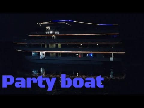 Party boat outside my apartment in Miami