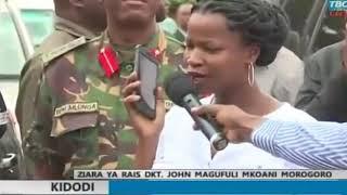 RAISI MAGUFULI akiongea na Prof Mkumbo Live mbele ya wananchi wa kijiji cha KIDODI; Nyaky Tv;