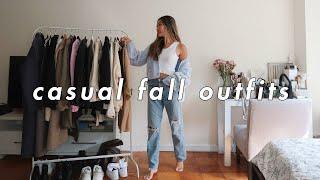 CASUAL FALL OUTFITS 🍁 | fall fashion lookbook 2020