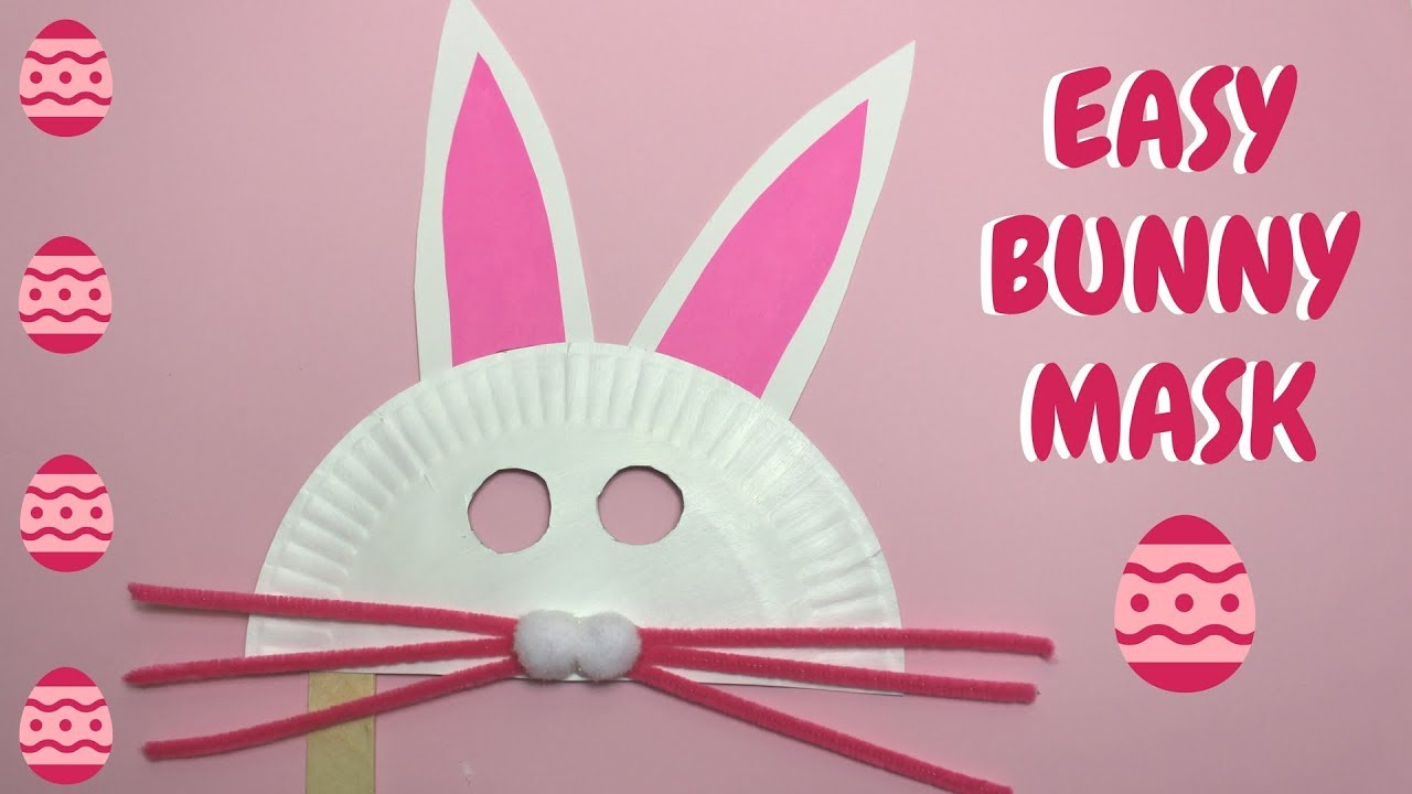 Easy Bunny Mask Easter Crafts Paper Plate Crafts Youtube