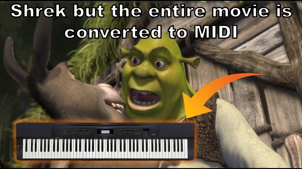 Shrek But The Entire Movie Is Converted To Midi Youtube