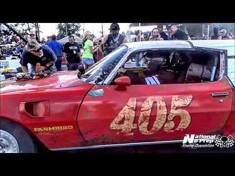 FarmBird driven by Chuck vs Fireball Camaro at Orangeburg S.C. Street outlaws Live event