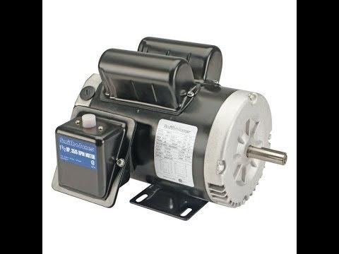 harbor freight 2 HP Compressor Duty Motor wiring