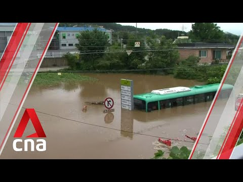 South Korea battling floods and landslides after 44 straight days of rain