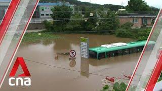 South Korea battling floods and landslides after 44 straight days of rain