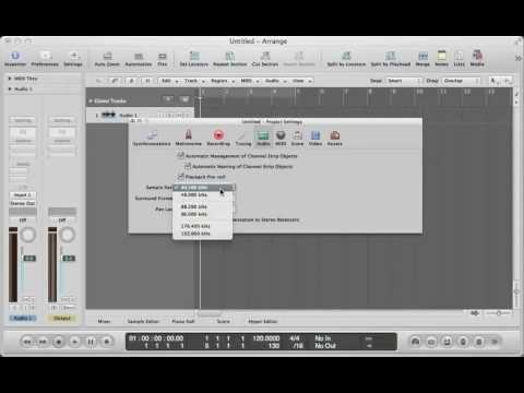 Logic Pro 9 - Understanding Sample Rate and Bit Depth - YouTube