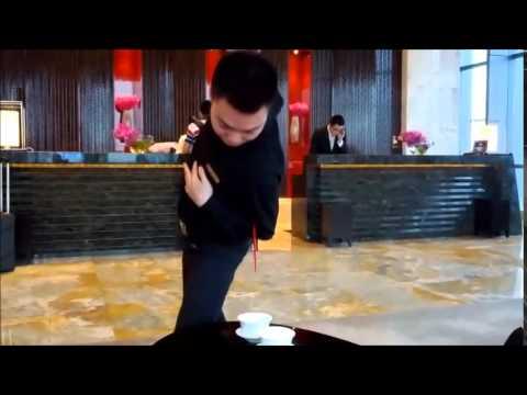 Kung Fu tea at the Ritz Carlton Chengdu