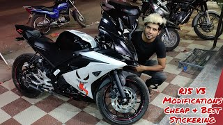 Yamaha R15 V3 Modifications | Stickering Cheap & Best | Devil Mode