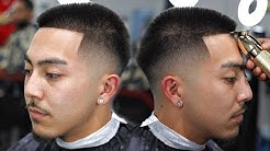 HAIRCUT TUTORIAL: MID LOW FADE   HOW TO SHAPE STRAIGHT HAIR