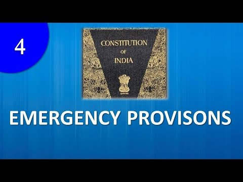 Emergency Provisions in Constitution of India