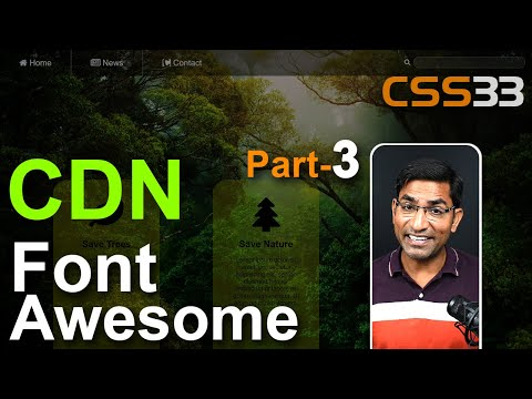 Font Awesome CDN Icon Html CSS Tutorials In Hindi / Urdu Part-3 CSS-33