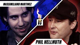 PRO VS AMATEUR - Phil Hellmuth vs Massimiliano Martinez ♠️ Poker Rivals ♠️ PokerStars