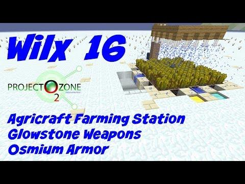 16: Agricraft Farming Station, Osmium Compressor - Project Ozone 2 - Titan - Frozen