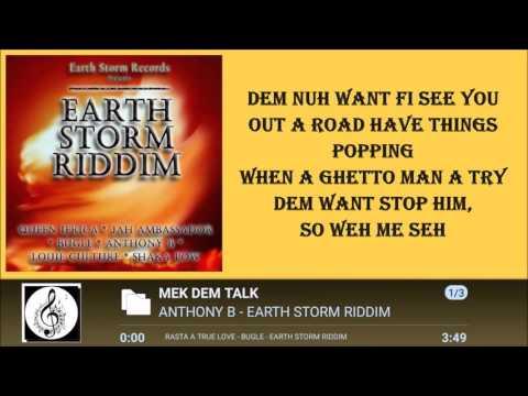 ANTHONY B - MEK DEM TALK LYRICS  [BY RICIANO CIRINO]  EARTH STORM RIDDIM 2016