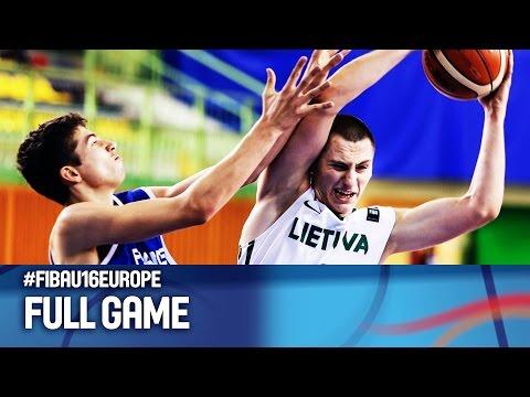 Lithuania v France - Full Game - FIBA U16 European Championship 2016