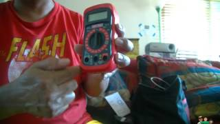 how to install battery craftsman digital multimeter with ac voltage detector