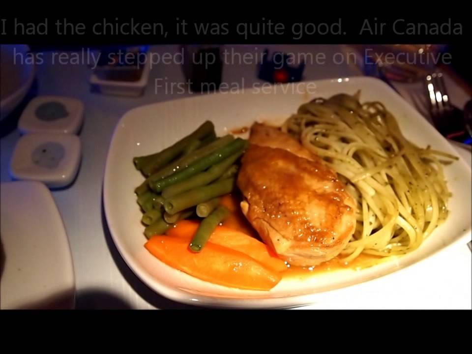 Air Canada Food On Plane