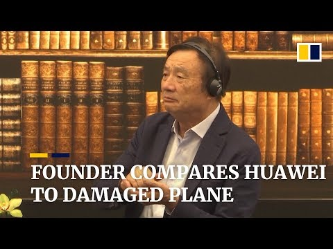 Founder compares Huawei to damaged plane