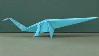 恐竜「セイスモサウルス」(地震竜)折り紙Dinosaur