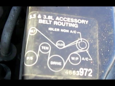 2000 Dodge Caravan Belt How To Install Or Replace Serpentine Belt Youtube