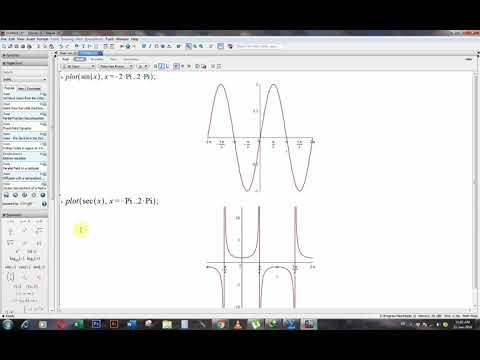 Maple Plot//two-dimension//parametric Plot//multiple Plot