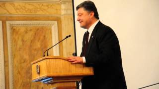 Порошенко в Чернівцях заговорив румунською