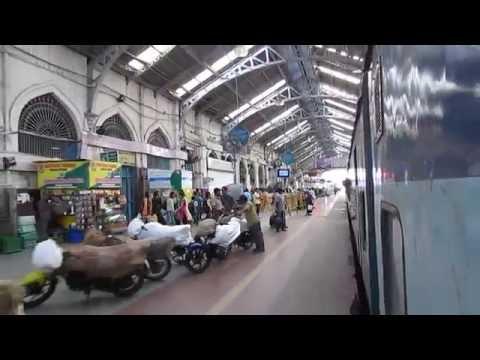 17643 Circar Express departing from Chennai Egmore railway station!