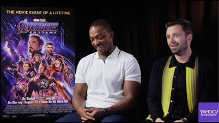 Anthony Mackie and Sebastian Stan on 'Avengers: Endgame,' time travel and 'Hot Tub Time Machine'